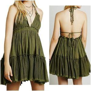 Womens Summer Halter Deep V Neck Sexy dress mini
